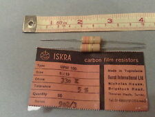 VINTAGE ISKRA RESISTORS  1W 330K Ohms 5% 1.0 Watt * PACK OF 2 * NEW OLD STOCK *