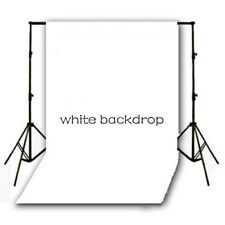 Vinyl Studio Backdrop Photography Props Photo Background WHITE 5X10ft