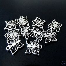 10 x Tibetan Silver Butterfly Pendant Charms 15mm x 12.5mm
