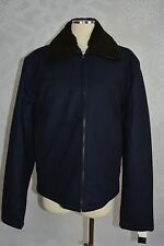The Men's Store Bloomingdale's Navy Wool blend  bomber Jacket M(40)  NWT