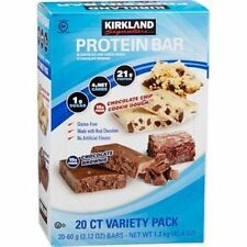 20 Kirkland Protein Bar 10 Chocolate Chip Cookie Dough 10 Chocolate Brownie