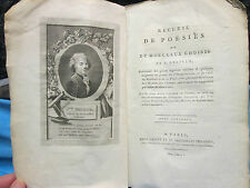 DELILLE : RECUEIL DE POESIES ET DE MORCEAUX CHOISIS, 1800.