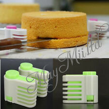5 Layers Kitchen DIY Cake Bread Cutter Leveler Slicer Cutting Fixator Tools S