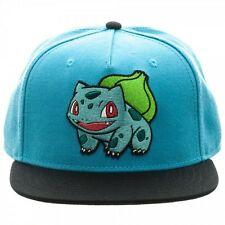 OFFICIAL NINTENDO'S POKEMON BULBASAUR BLUE COLOUR BLOCK SNAPBACK CAP (NEW)