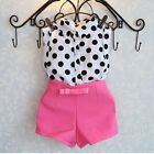 2PCS Toddler Kids Baby Girls Outfits T-shirt Tops Dress+Shorts Pants Clothes Set