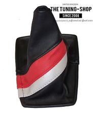 FITS 1990-93 TOYOTA CELICA BLACK LEATHER SHIFT BOOT TRD RACING STYLE STRIPES NEW