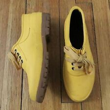 COLEMAN RUBBER THERMOLITE MUSTARD YELLOW GUSSETED WATERPROOF SHOES WOMENS SIZE 7