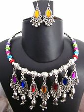 NECKLACE EARRING Set Banjara Bellydance Gypsy Boho India Classical Dance Jewelry