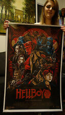 "2011 Mondo Hellboy 2 Poster 24X36"" Screen Print 38/360 Ken Taylor Out of Print"