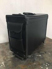 Rolling Businessman Briefcase telescoping Pilot case Black Hard Case combo lock