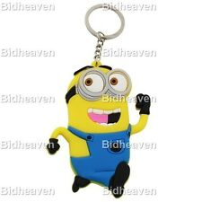 8cm Cute Despicable Me Minion PVC Figure Key Ring Chain Keychain Gift A3