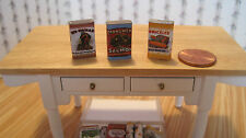 Dollhouse Miniature ~ 24 Old fashioned Grocery Tins SQ. ~ Country/General Store