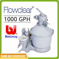 1000GPH Bestway Flowclear Sand Filter Pump 58400 For Above Ground Swimming Pools