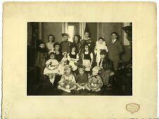 PHOTO FONTAINE D'ALBERT MARSEILLE CARNAVAL ENFANTS DEGUISES POUPEE 1930 COSTUME