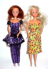 2 VINTAGE 1990 LUCKY BARBIE TYPE DOLLS WITH OPEN/CLOSE EYES PRETTY