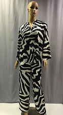 NEW NATORI ZEBRA 2 PC PJ PAJAMA SET SZ S SMALL