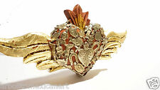 Sacred Heart w/Wings/Sagrado Corazón/ Mexican Folk Art Wood Sculpture Sm