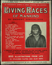Magazine Living Races Of Mankind 1905 Mexico Brazil Amazonia Andes Guiana