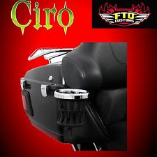 CIRO Chrome Cup Holder for H-D 96-13 Touring 50421