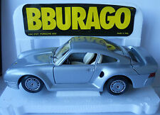 Bburago Porsche 959 Silver 1/24 Original Burago Mint Condition 25 Years Old