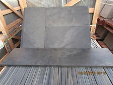 Natural  Black Slate Paving Garden Patio Slabs 5m2 600x300mm 15 to 20mm Thick