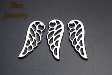 50Pcs 25mm Angel Wing Charms Pendant Linker Bail Tibet Siver DIY Jewelry 7135
