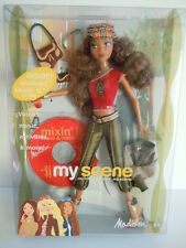 2003 Mattel Barbie My Scene Cafe Hanging Out Madison Doll With Mixin' It CD NIB