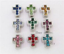 10pcs rhinestone cross Floating charms For Glass Locket Free shipping FC199