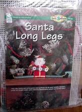 Santa Long Legs Silly Santa by Vicki Blizzard Plastic Canvas Needlepoint HOHOHO!
