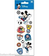 Disney Mickey Mouse Soccer Star Sports Party Team Stickers Scrapbooking New
