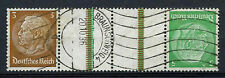 Germany Third Reich 1933, 3pf, 5pf Hindenburg Used Gutter Pair Strip #A65882