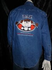 Vintage~Harley Davidson~ Warner Bros Taz~RARE~Long Sleeve Shirt M~Awesome Style