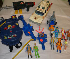 Lot of Vintage Ghostbusters Toys - Proton Pack Blaster PKE Ecto 1 & 2 + Figures
