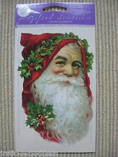 NIP Gifted Line Vtg Scrapbook Stickers Christmas Santa Claus Head John Grossman