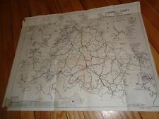 Vintage Map Campbell County Virginia 1963 Rustburg Timberlake Winfall Concord
