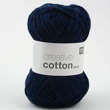 Rico Creative Cotton Aran - 100% Cotton Knitting & Crochet Yarn - Dark Blue 38