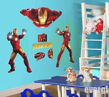 Large Super Iron Man Hero The Avengers Art Vinyl Wall Stickers Decal Kids Decor