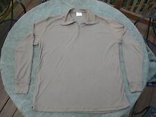Medium military lightweight cold weather shirt long john top - very good
