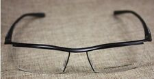 NEW LUXURY HALF RIMLESS EYEGLASSES GLASSES FRAMES DESIGN TR90 P8189 BLACK 1PCS