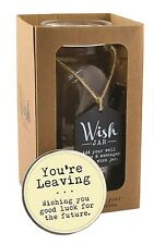Splosh Glass Wish Jar You're Leaving Party Guest Wishes & Pen Celebrate Gift