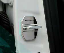 NEW 4X AMG Stainless steel Door Lock Bolt Protective Cover for C E S GLK CLA GLA