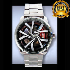 NEW VW GOLF GTI BRESCIA WHEEL MENS SPORT METAL WATCH STAINLESS. LIMITED EDITION