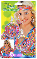 Onorevoli Swirl Orecchini Mod 60's 70's - gioielli HALLOWEEN FANCY DRESS ACCESSORIO