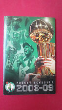 BOSTON CELTICS 2008-2009 TITLE #17 TROPHY SCHEDULE