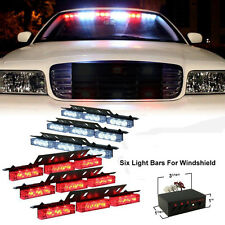 54 LED Emergency Car Vehicle Strobe Flash Lights Bars Warning Red/White
