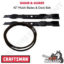 """Craftsman Mulch Blades & Deck Belt for 42""""   134149 & 144959   LT1000"""