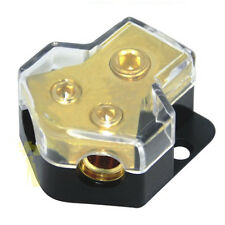 1 in 2 Out Car Audio Power or Ground Cable Spliter Distribution Block Copper