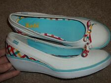 Womens 5.5M KEDS Rainbow Colors Wedge Heel Slip On Mary Jane Dress Shoes