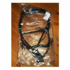 Micklem COMPETITION style BLACK leather bridle  Full size & reins