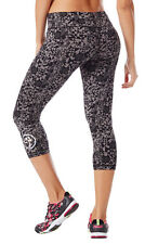 NWT Zumba Wear XL Tribe Perfect Capri Leggings Polyester Spandex Gray NEW